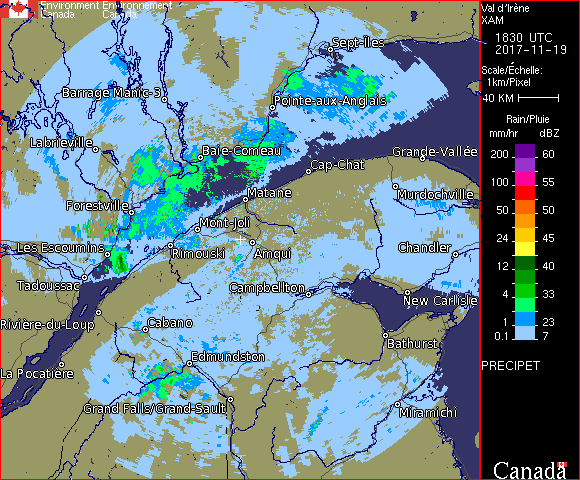 Weather Radar - Val d'Ir�ne, QC - Environment Canada